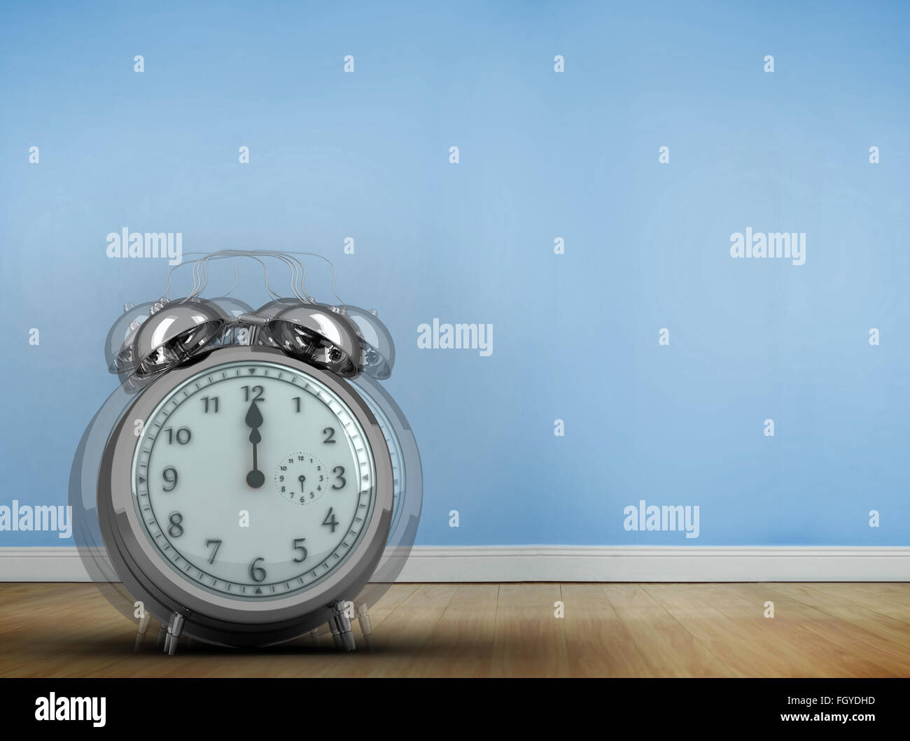 Composite image of alarm clock counting down to twelve Stock Photo