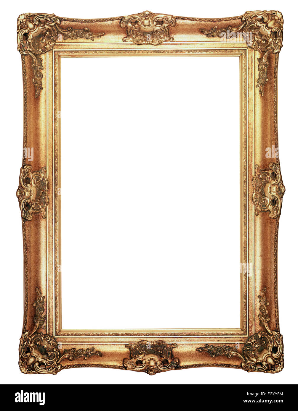 Gold Picture Frame High Resolution Stock Photography And Images Alamy