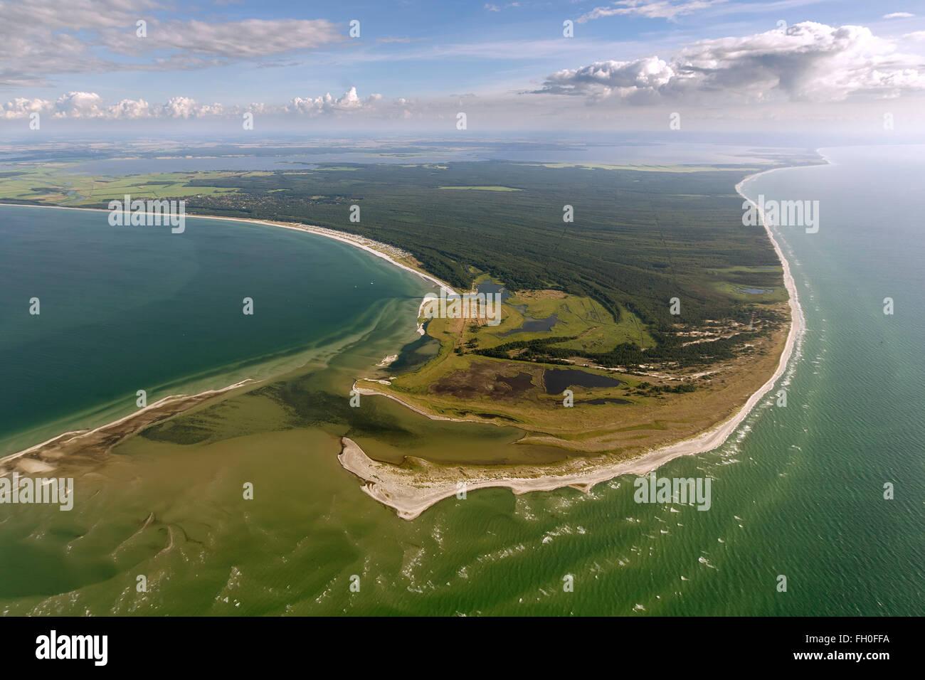 Aerial view, Darsser Ort, Darßer Ort, Baltic, Libbertsee, National Park Darsser-place Prerow, Baltic Sea, Mecklenburg - Stock Image