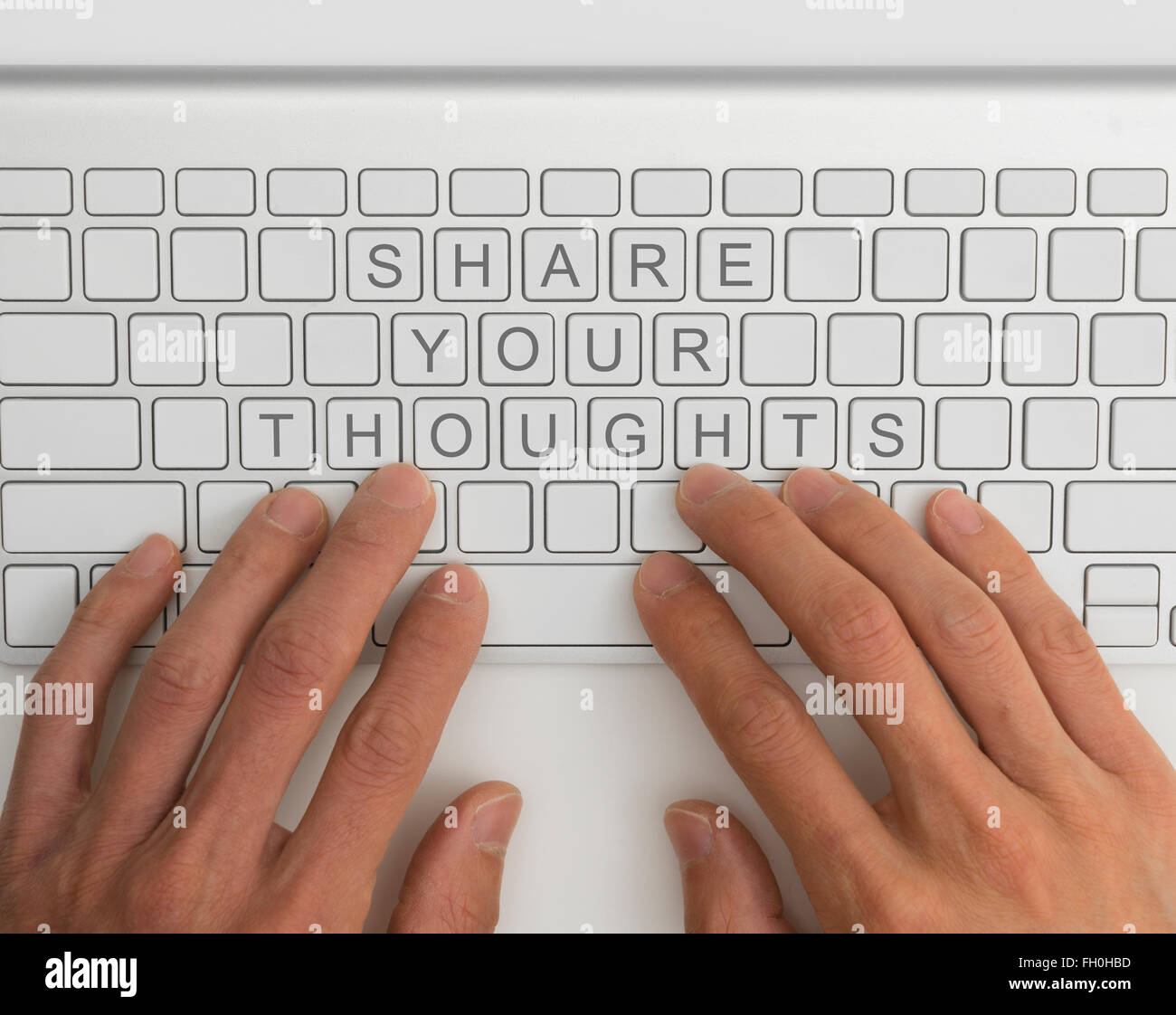 Share your thoughts concept - Stock Image