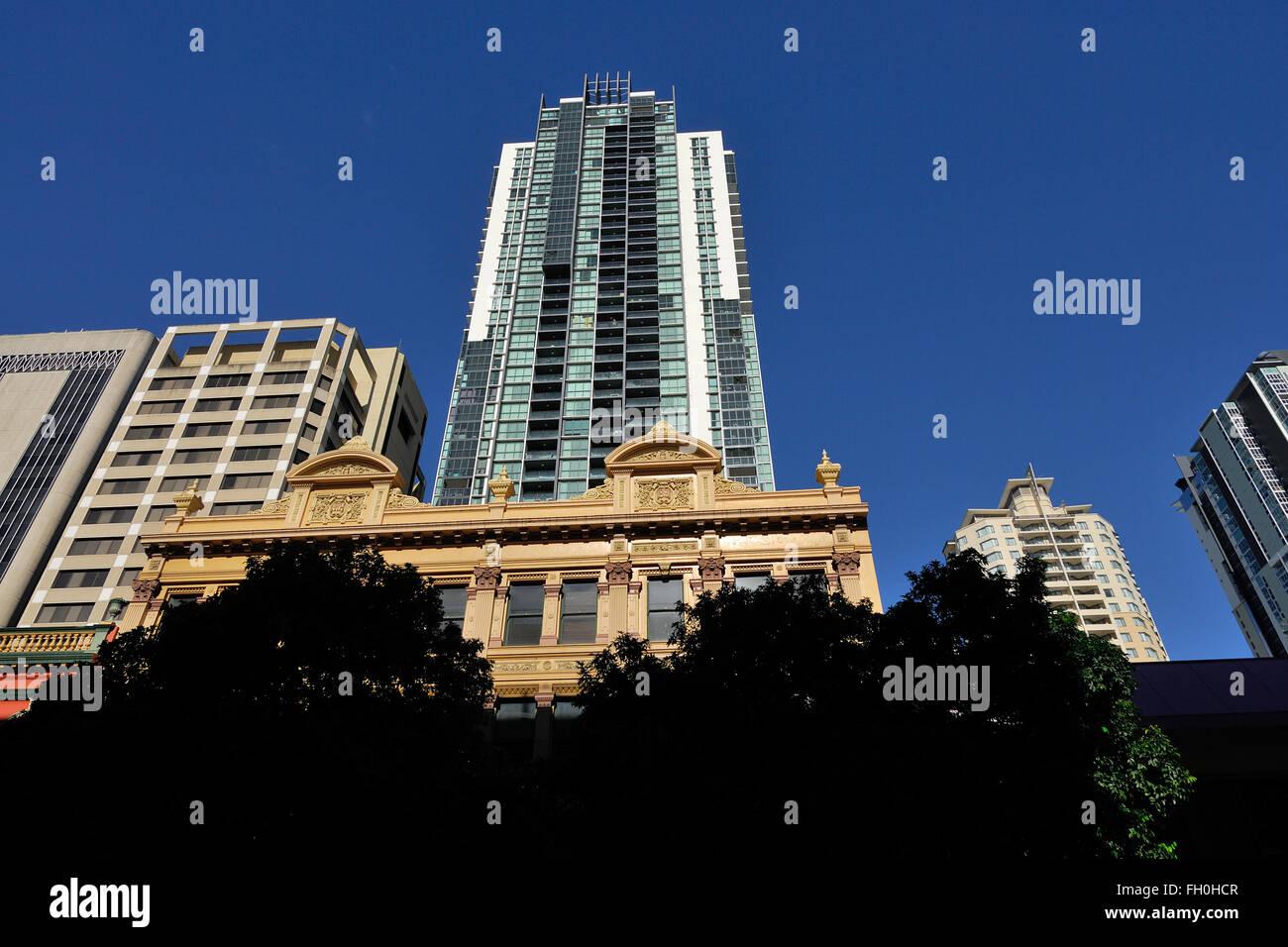 High rise building in Brisbane CBD - Stock Image