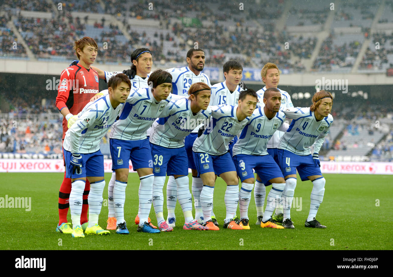 Kanagawa Japan 20th Feb 2016 Gamba Osaka Team Group Line Up Stock Photo 96515294 Alamy