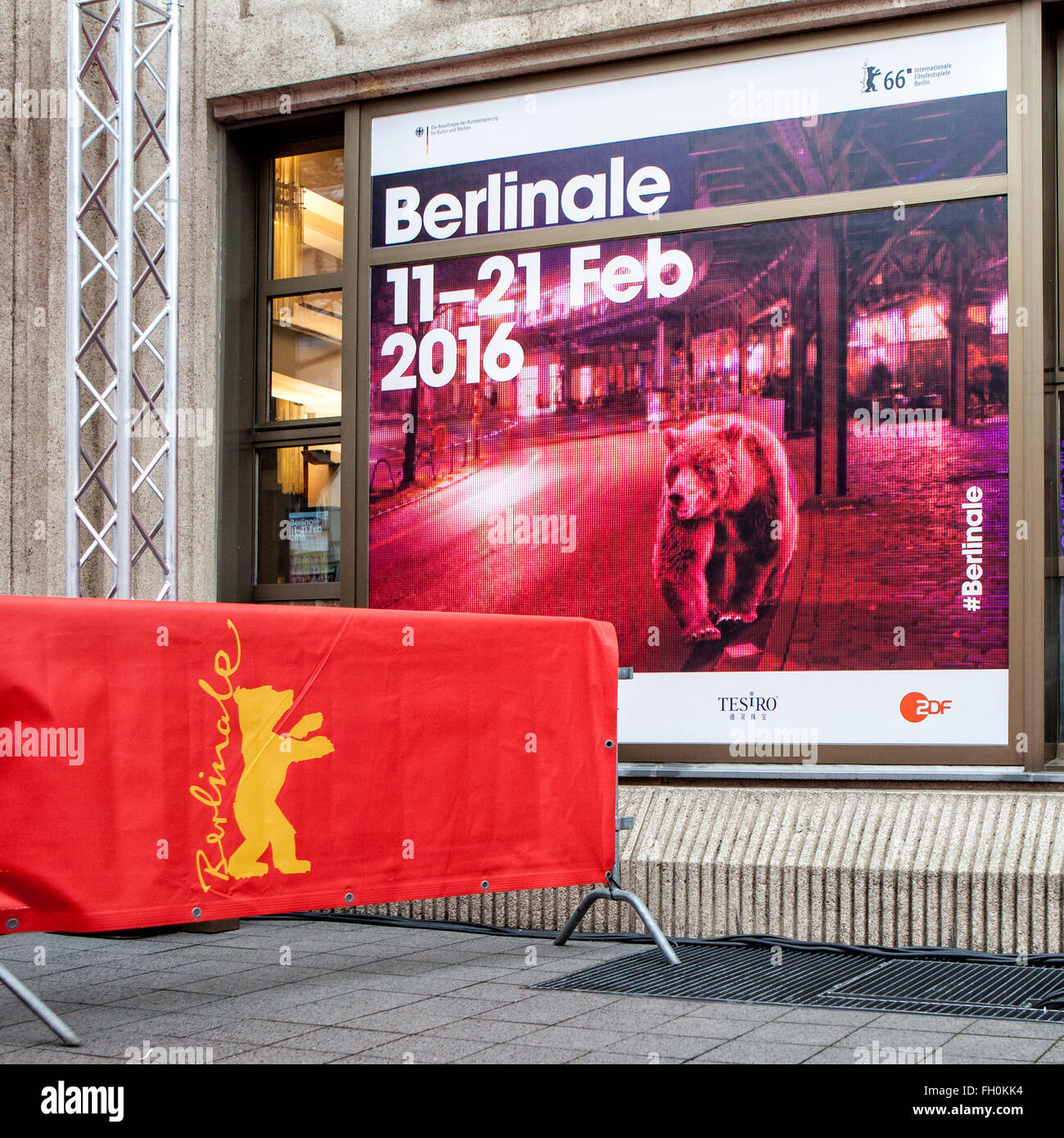 2016 Berlinale Berlin Film Festival Poster And Bear Logo At The Historic Friedrichstadt Palast