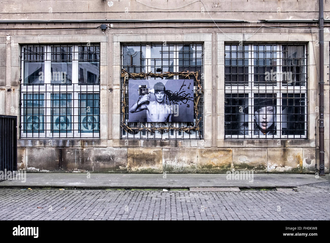 Berlin Rath Factory exterior with photographs, studio and workshop of Photographer Oliver Rath - Stock Image