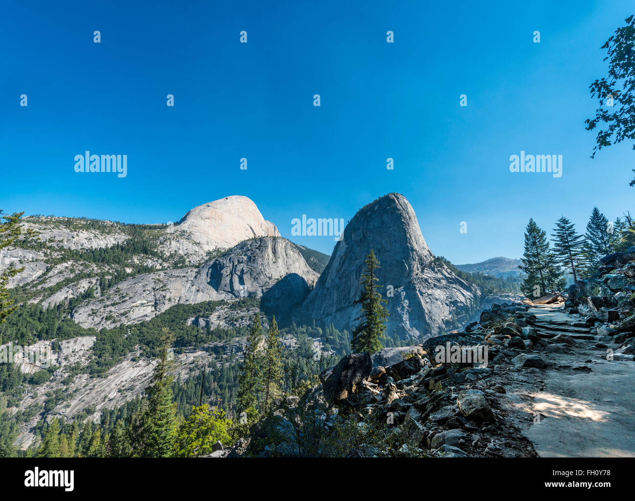 Liberty Cap, Yosemite National Park, California, USA, North America - Stock Image
