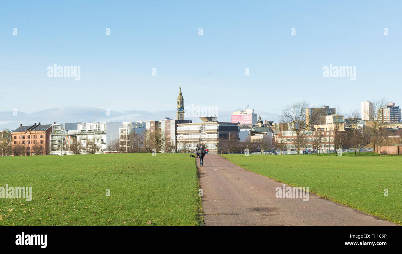 Glasgow Green - the oldest of Glasgow's public parks - Stock Image