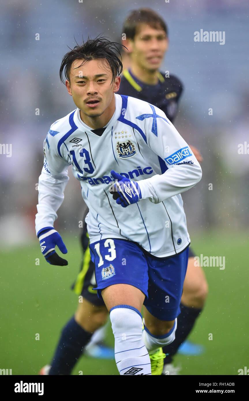 Kanagawa, Japan. 20th Feb, 2016. Hiroyuki Abe (Gamba) Football ...