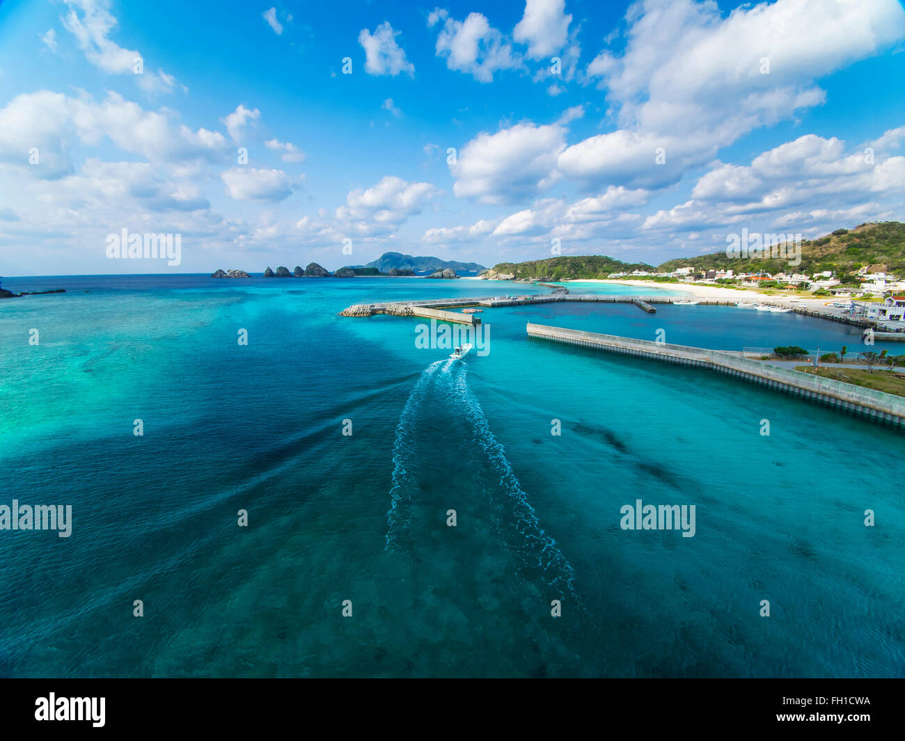 Beautiful sea of Okinawa Kerama Islands. - Stock Image