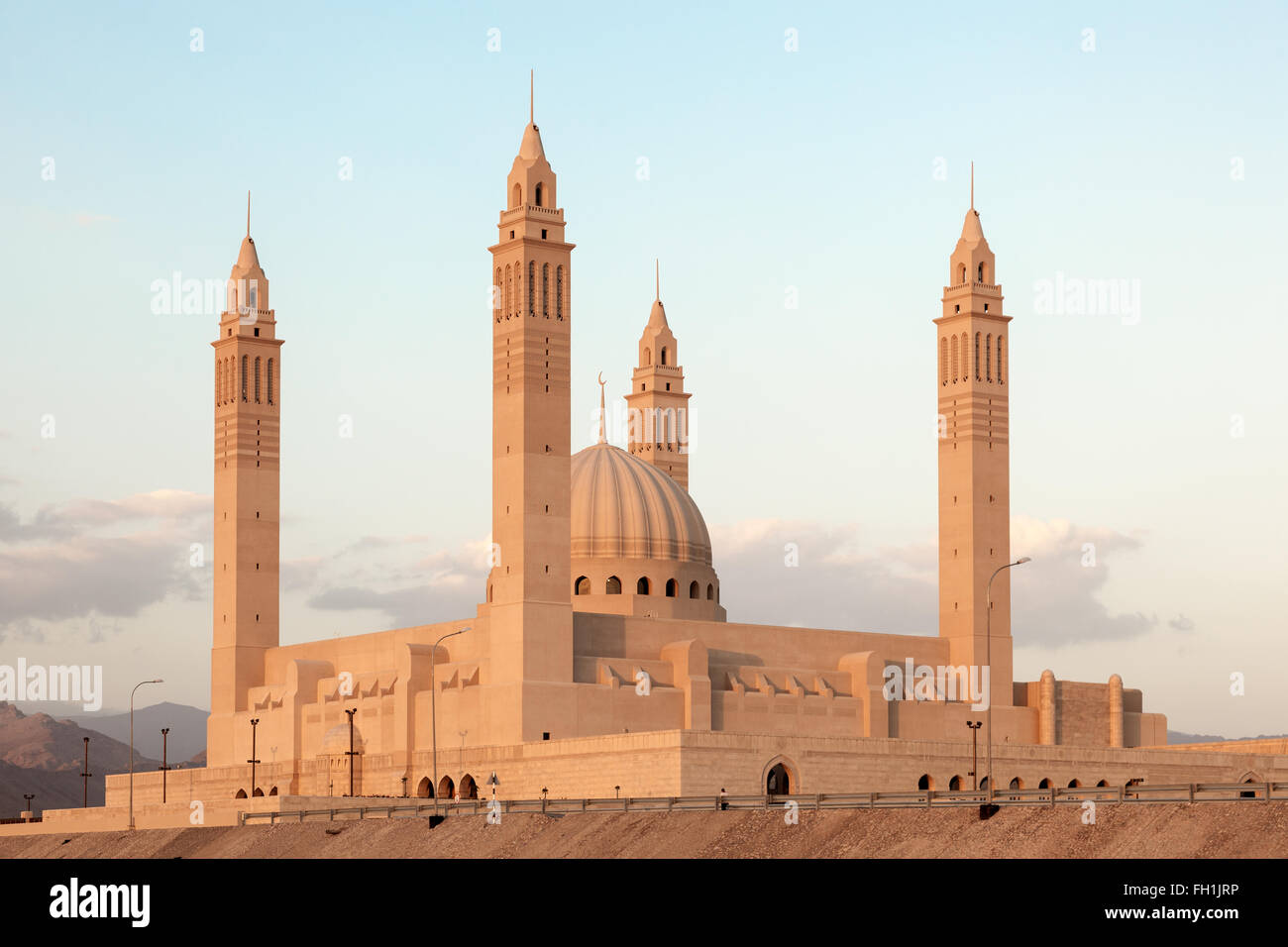 Grand mosque in Nizwa at dusk. Sultanate of Oman, Middle East - Stock Image