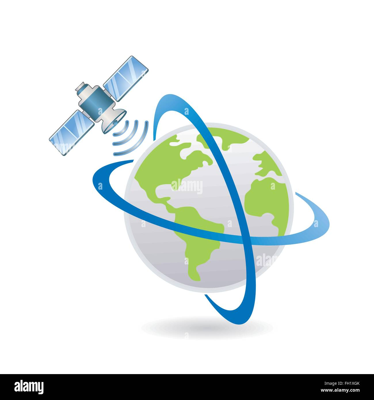 satellite above the Earth - Stock Image