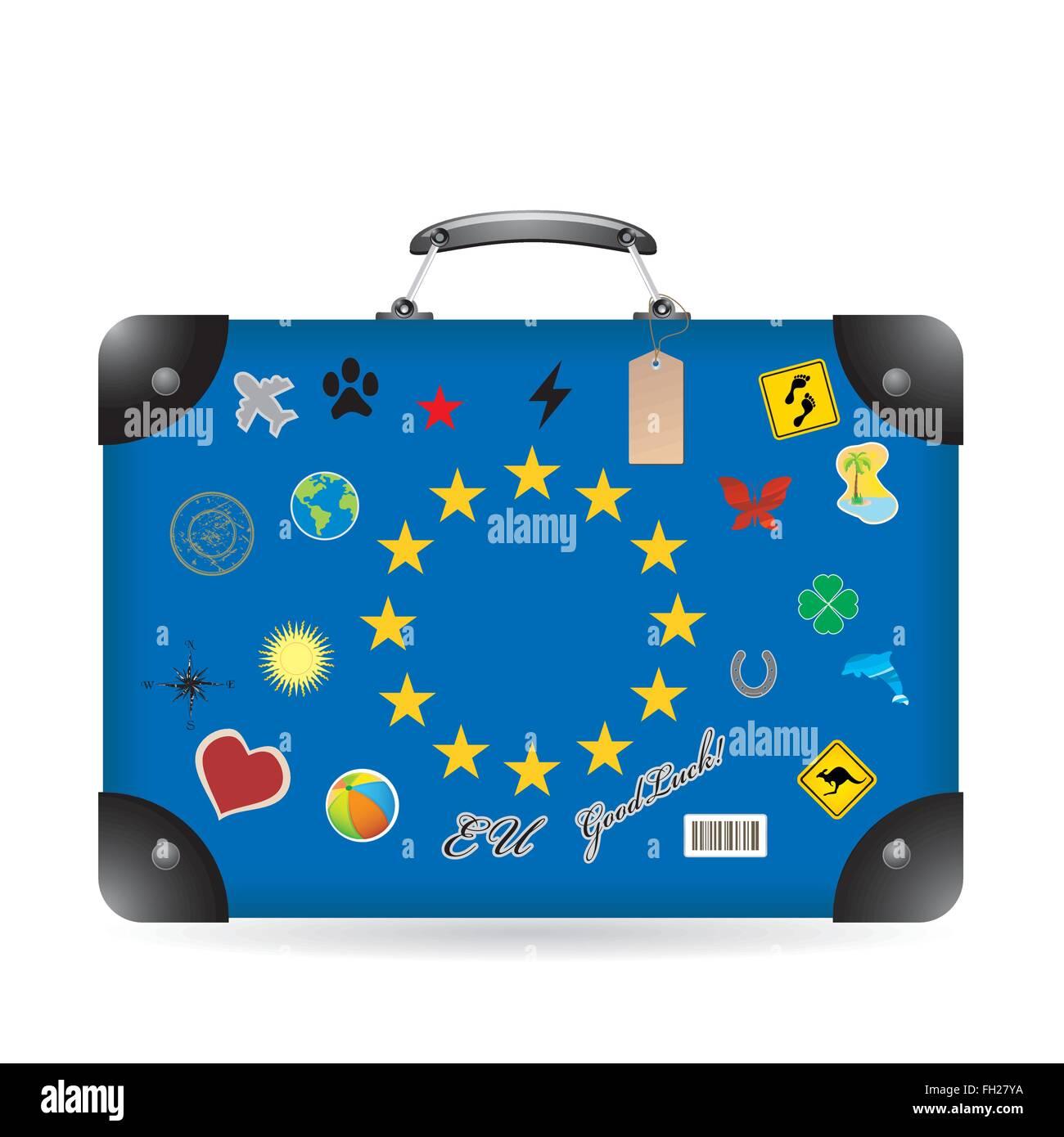 Europa flag on bag - Stock Image