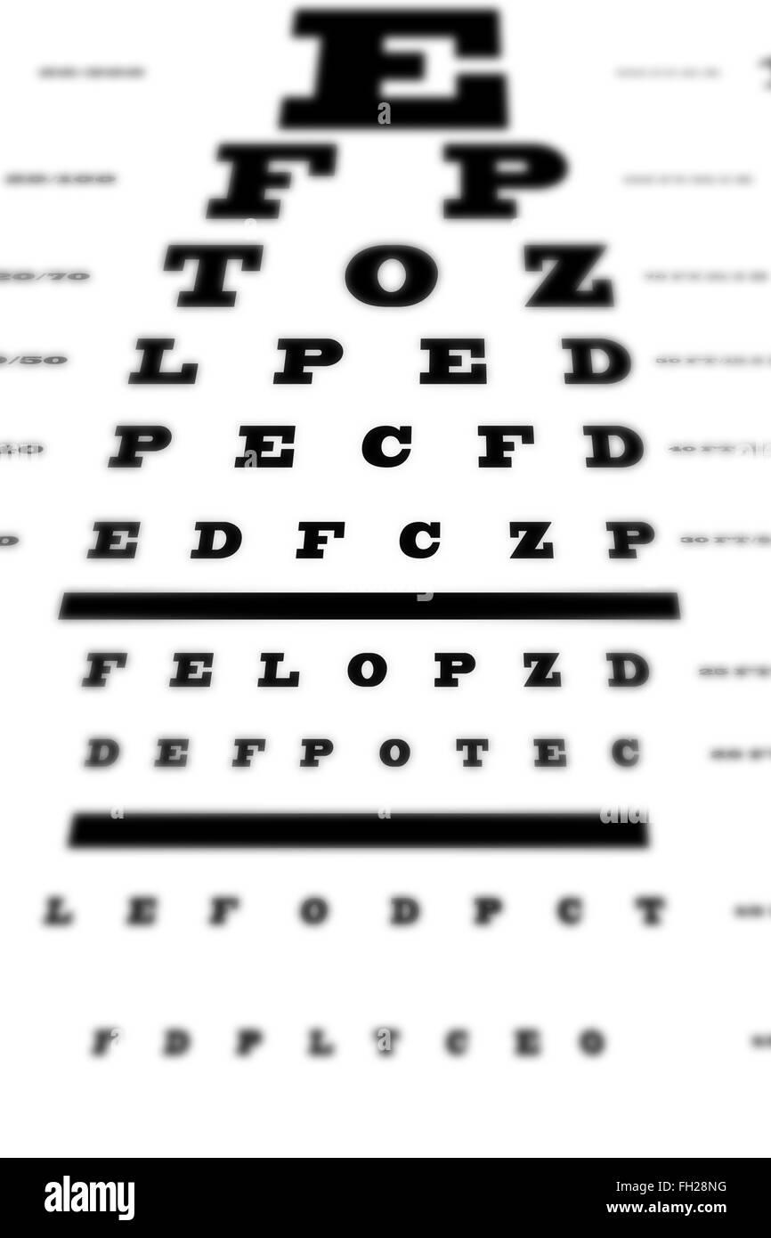 An Eye Sight Test Chart Stock Photo 96551772 Alamy
