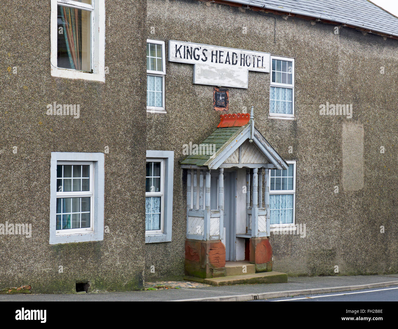 The Kings Head Hotel in Bootle (now closed), West Cumbria, England UK - Stock Image