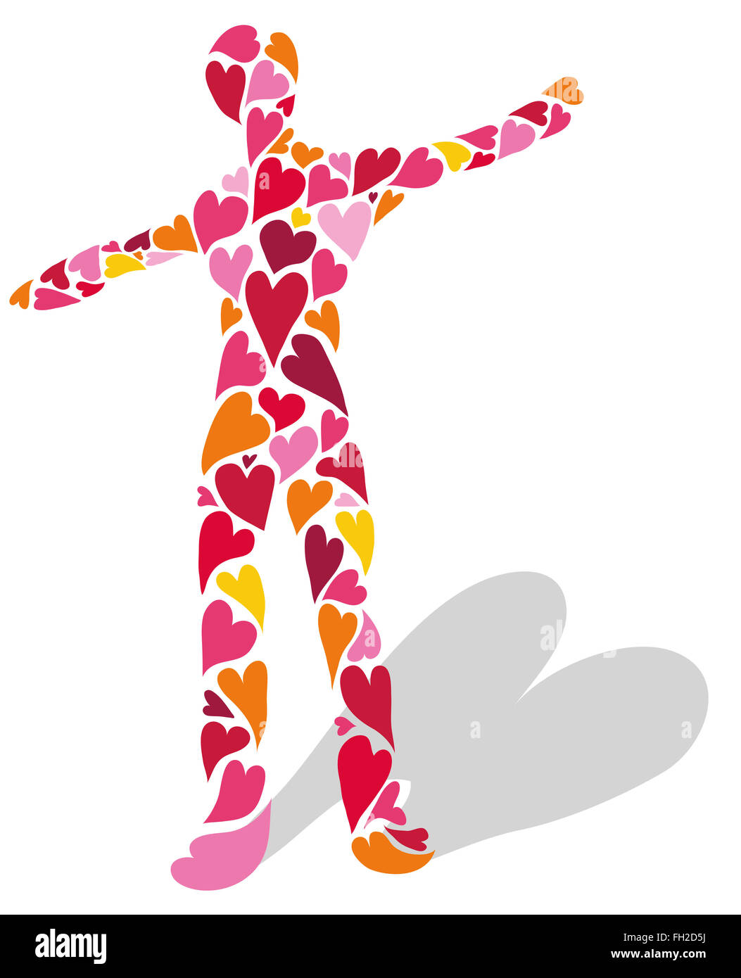 Human made of hearts. Symbol of love. - Stock Image
