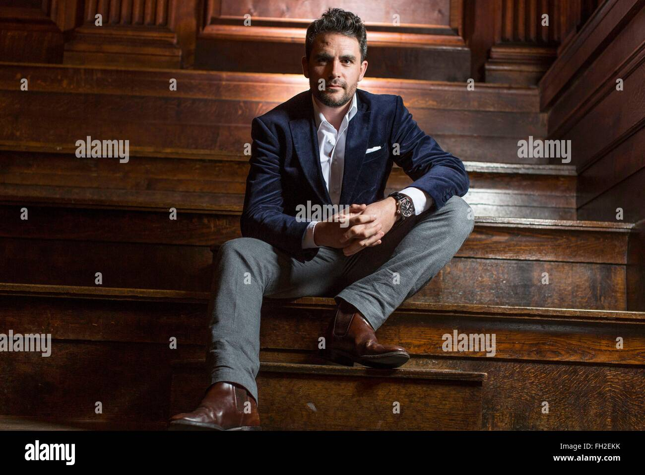 Portrait of explorer and TV presenter Levison Wood - Stock Image