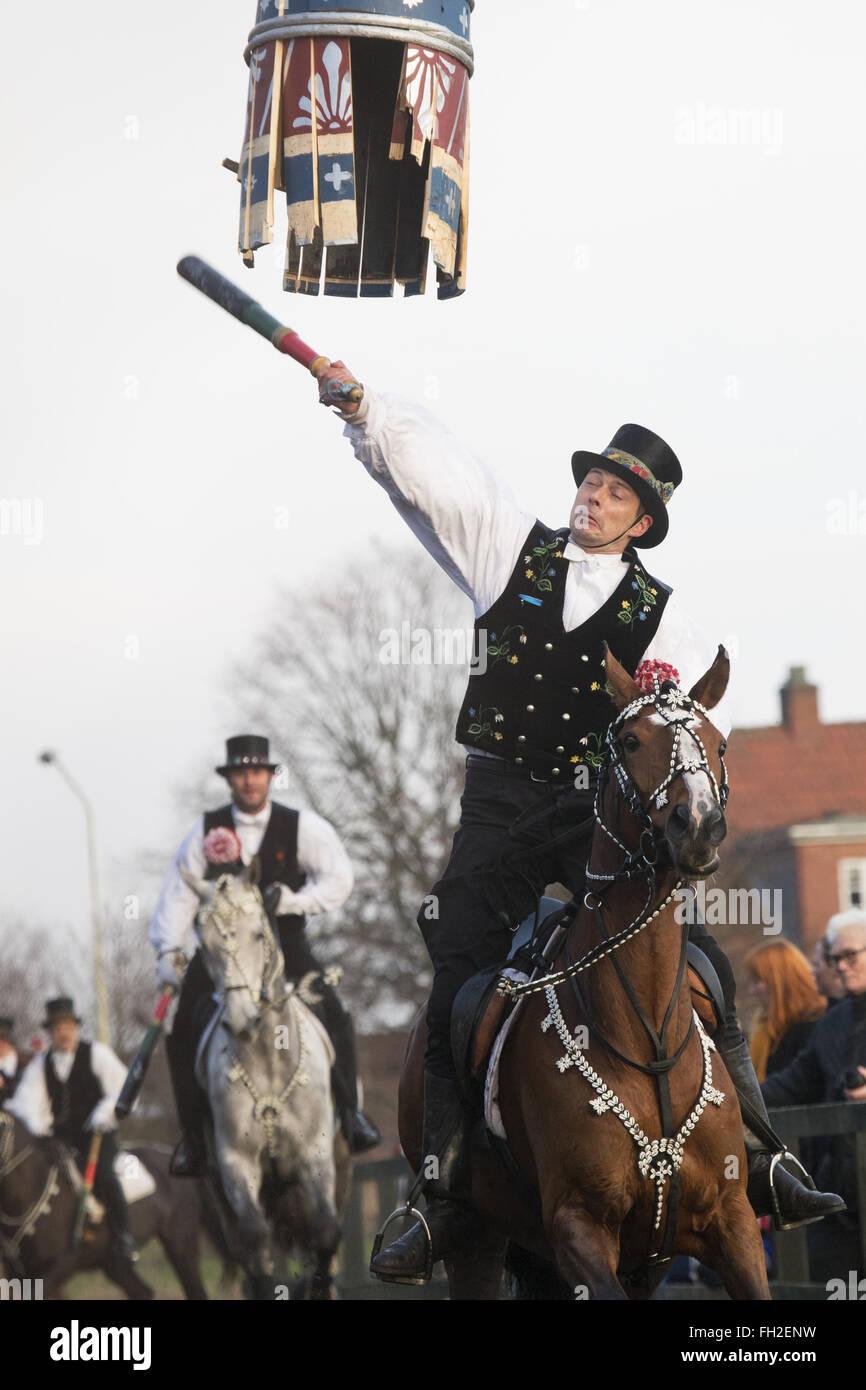 shrove festival horse tradition Denmark Danish day - Stock Image