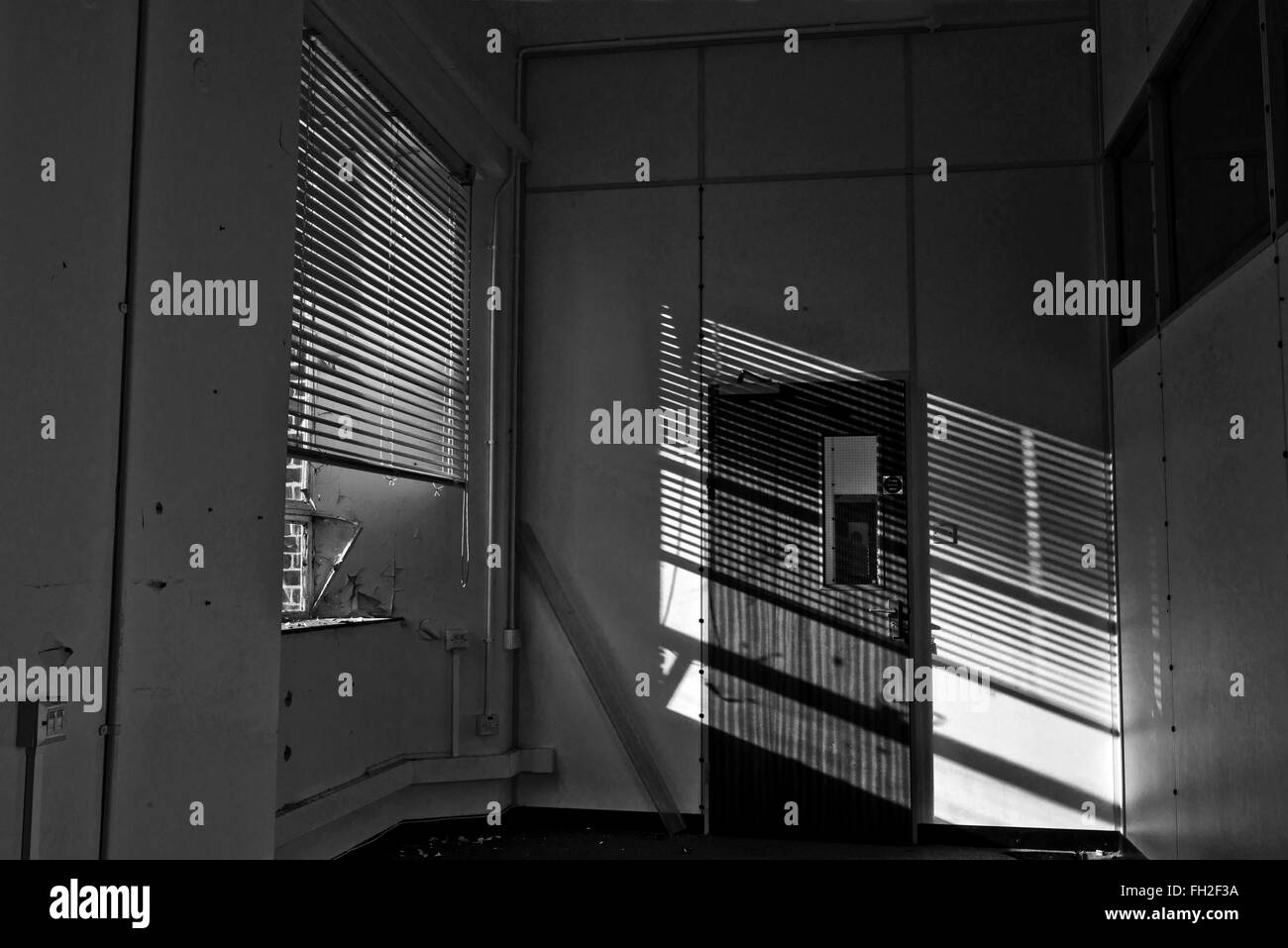 Small room adjoining a ward inside the now Royal Hospital Haslar. Gosport, Hampshire, UK - Stock Image