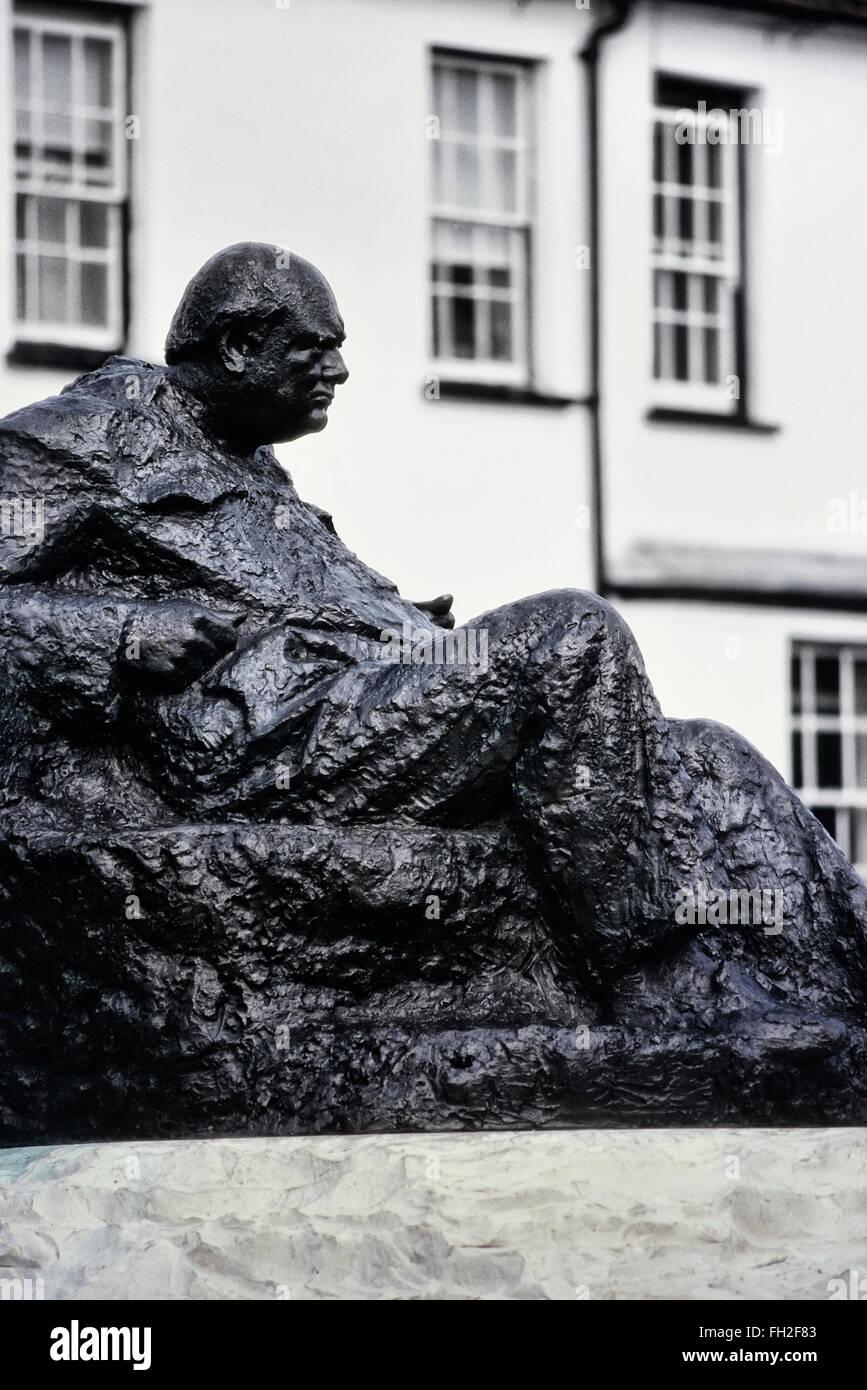 Sir Winston Churchill Statue, Westerham, Kent. England. UK - Stock Image