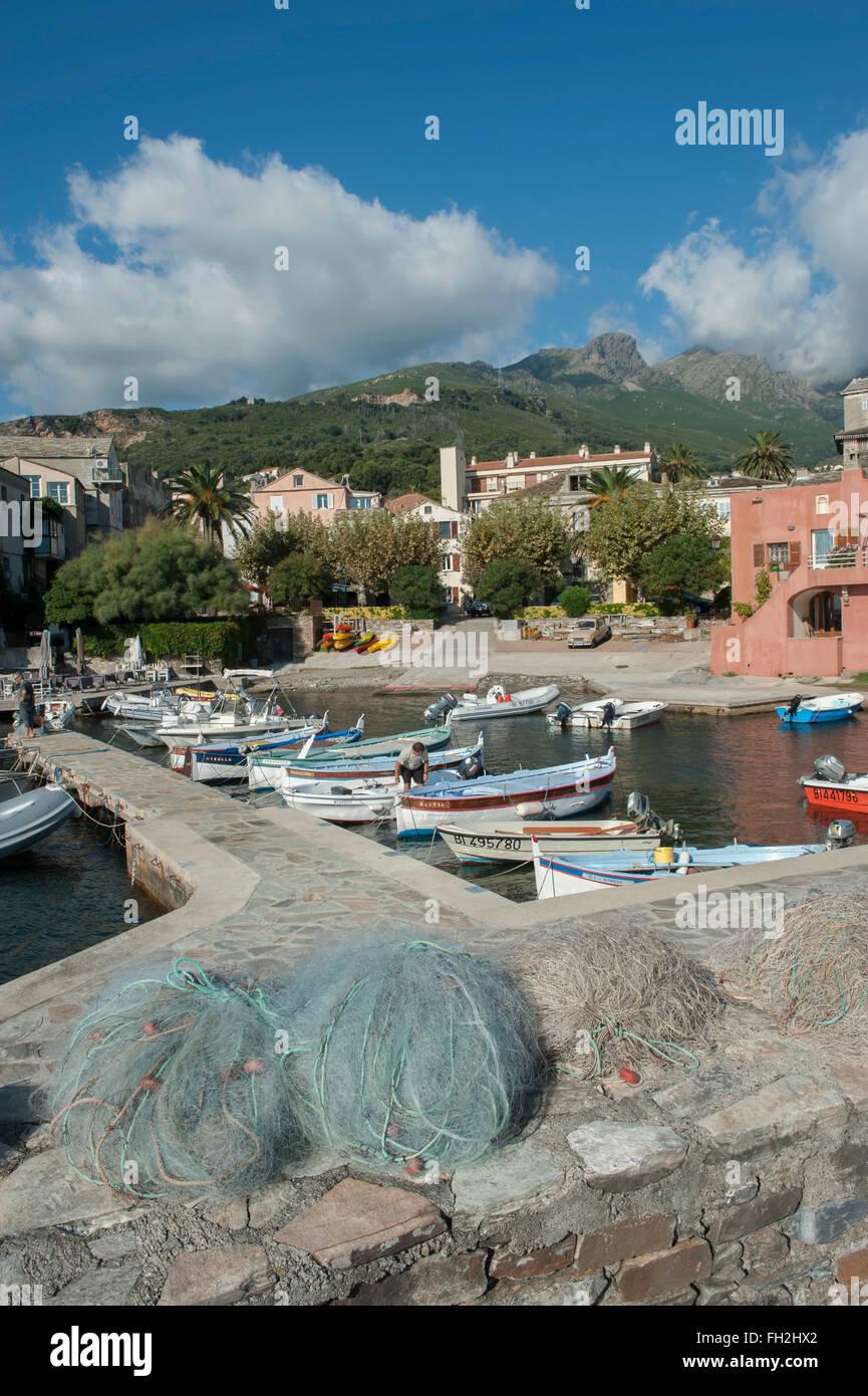 Erbalunga harbour. Cap Corse district. Corsica. France - Stock Image