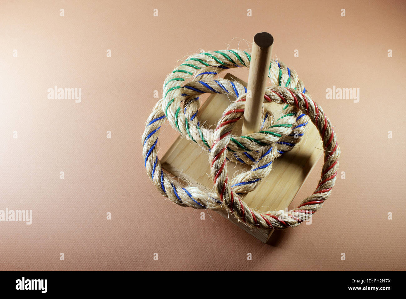 Ring Toss Game - Stock Image