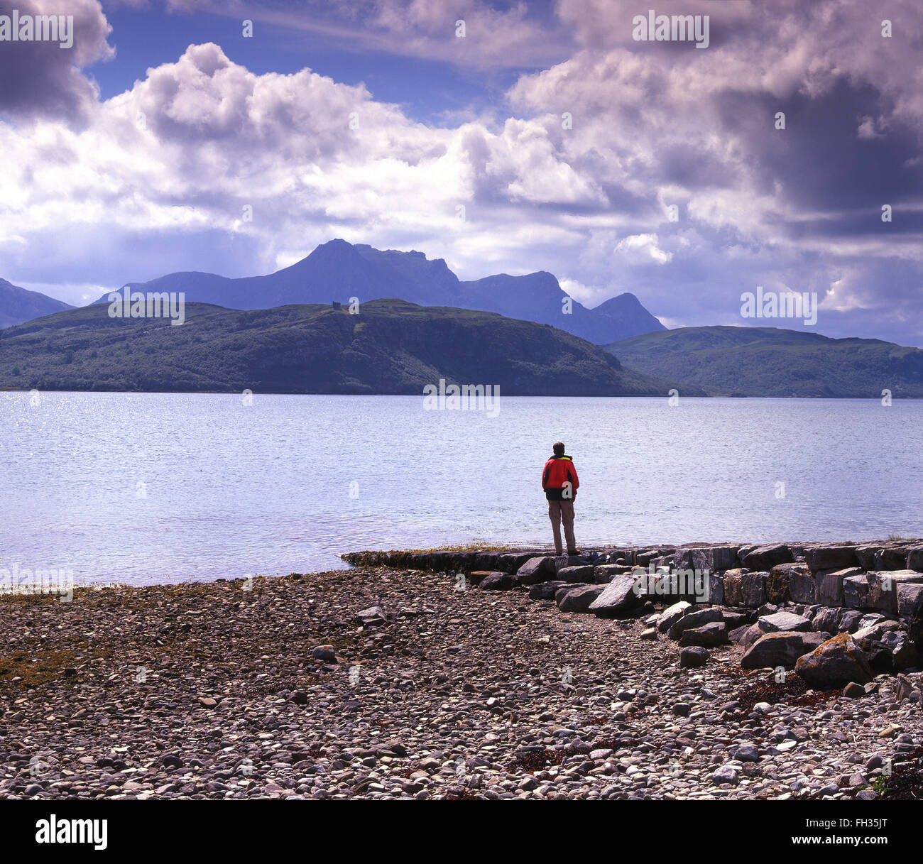 Ben Loyal from the Kyles of Tongue, N/W Highlands - Stock Image