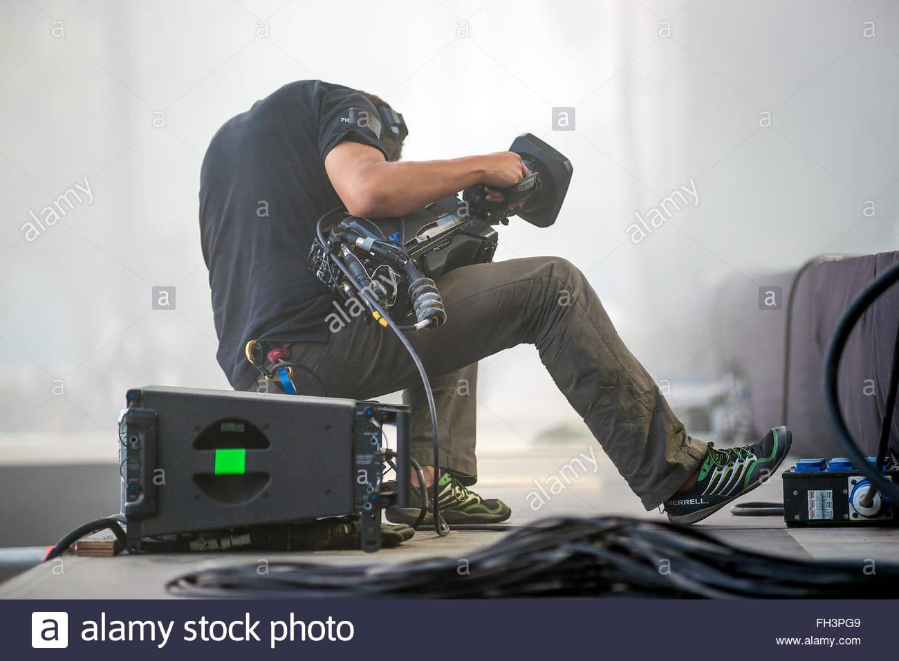 camera operator / cameraman - Stock Image