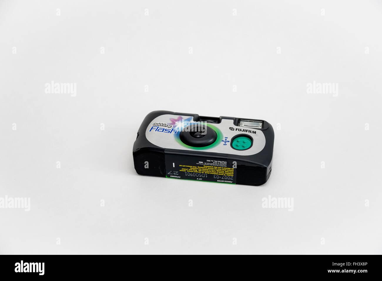Disposable film camera Fuji - Stock Image