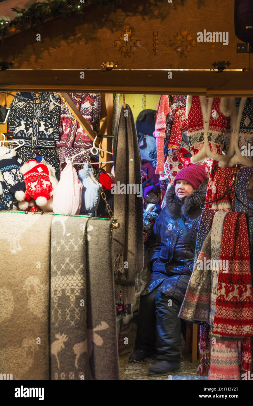 Christmas Time at Old Town Square at Tallinn Estonia - Stock Image