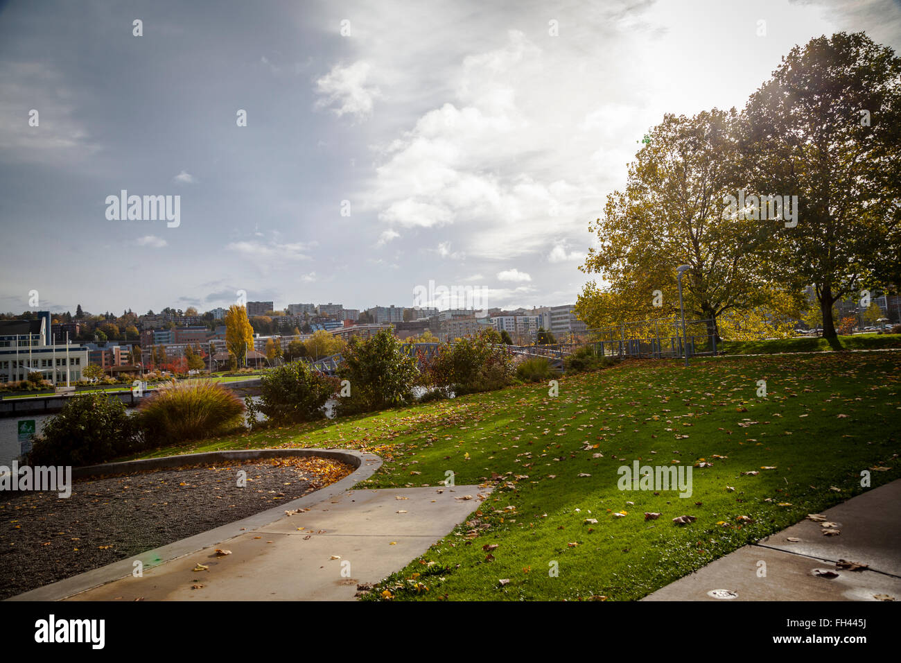 Lake union park, Seattle, Washington State - Stock Image