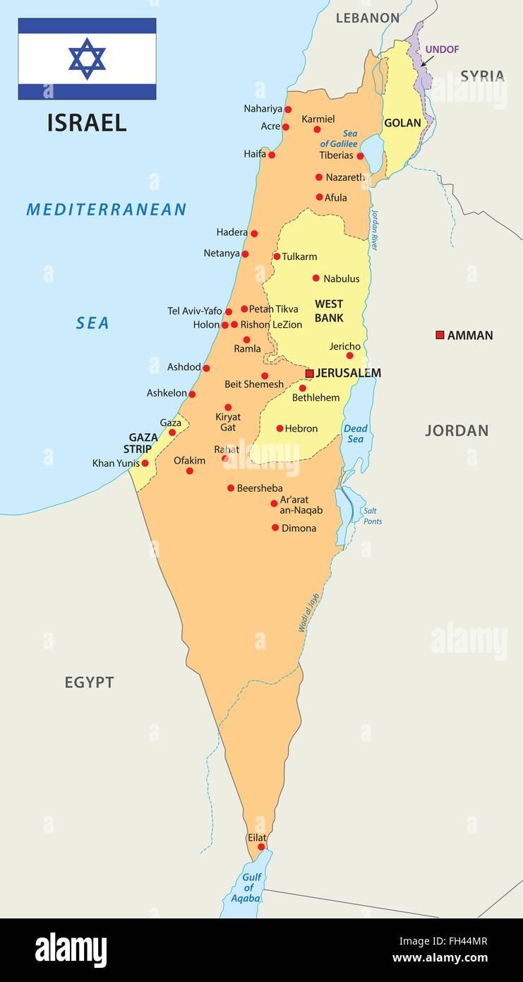 Israel Karte.Israel Map With Flag Stock Vector Art Illustration Vector Image