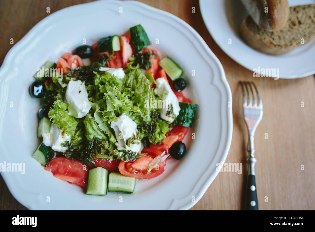 vegetarian breakfast in the morning - Stock Image
