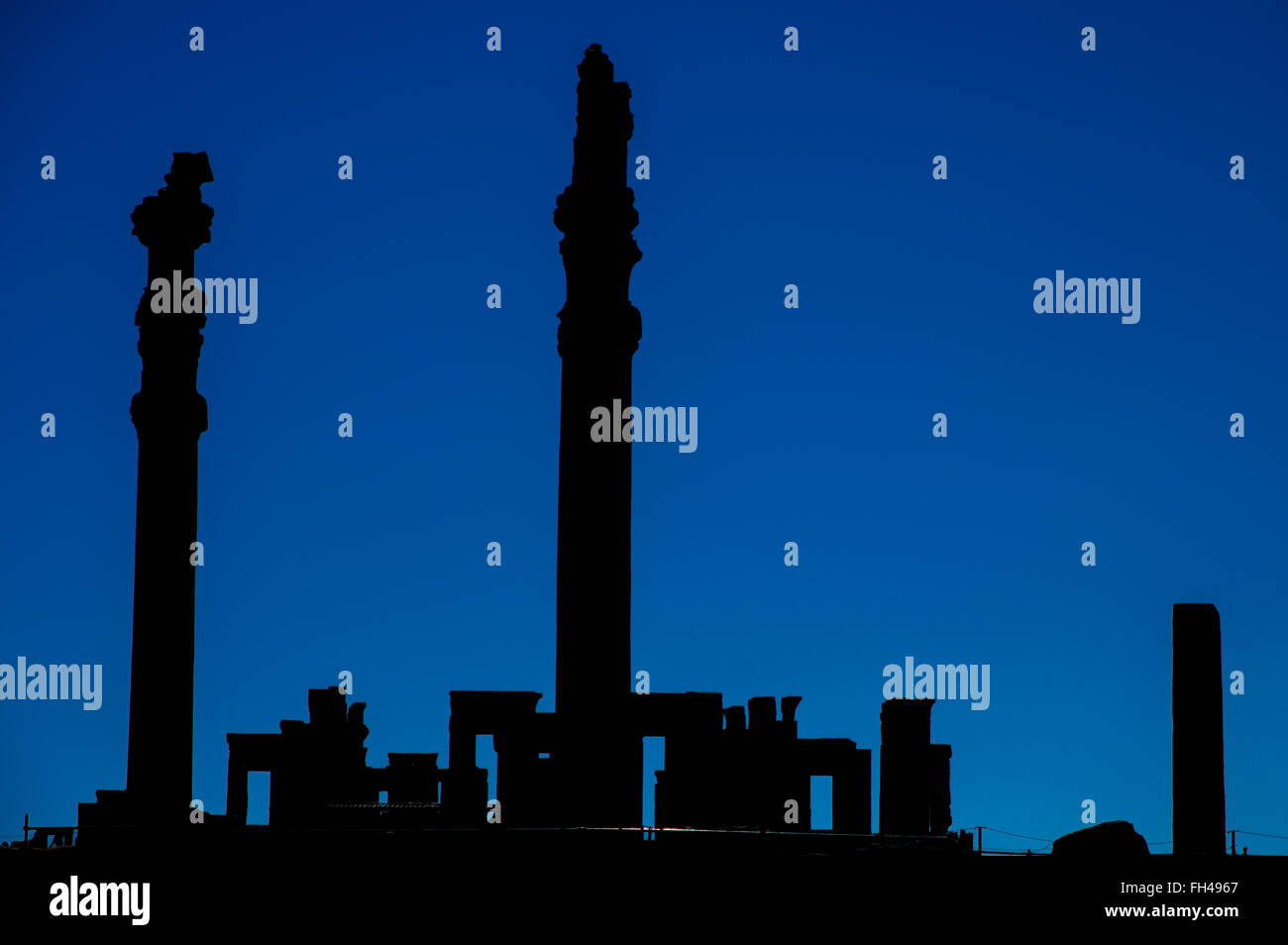 Ancient ruins of Persepolis, the most important city of old Persia. Iran, 2016 - Stock Image