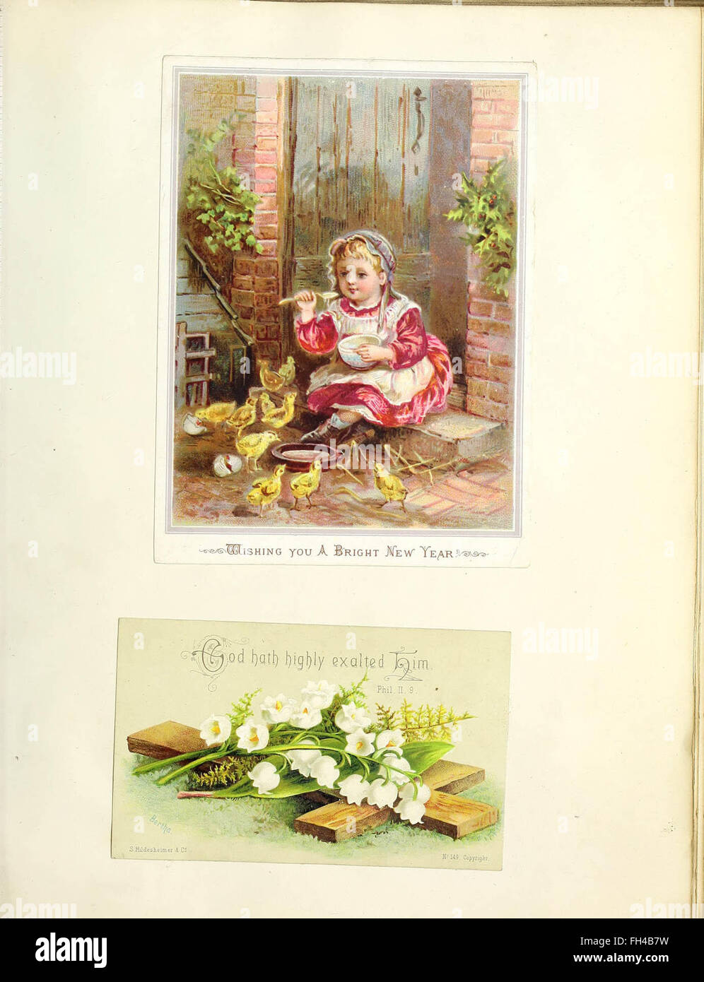 Scrapbook of victorian greeting cards stock photo 96597645 alamy scrapbook of victorian greeting cards m4hsunfo