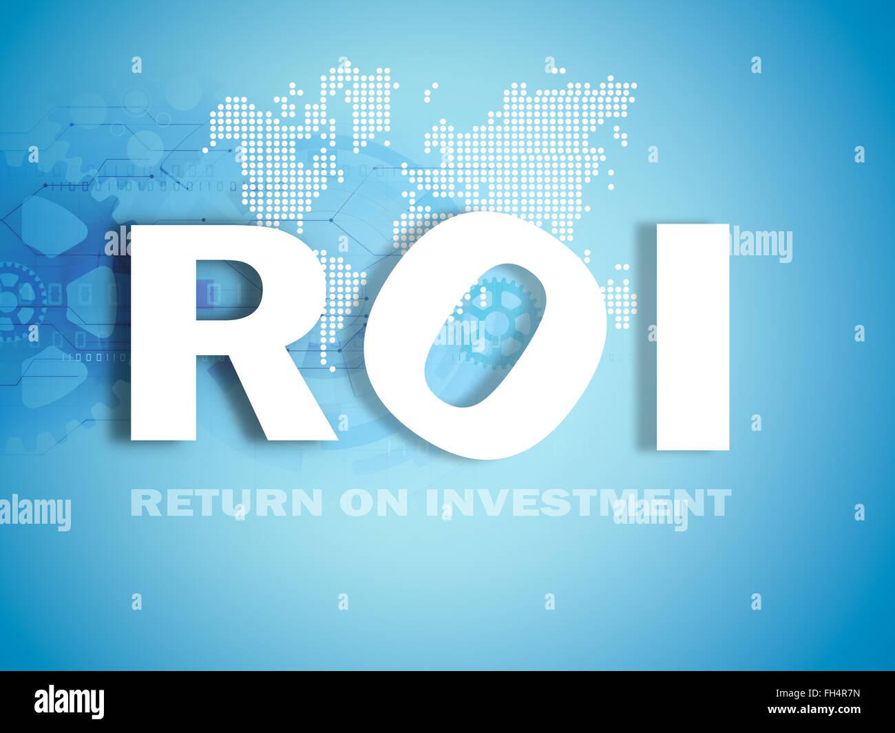investment performance indicator - Stock Image