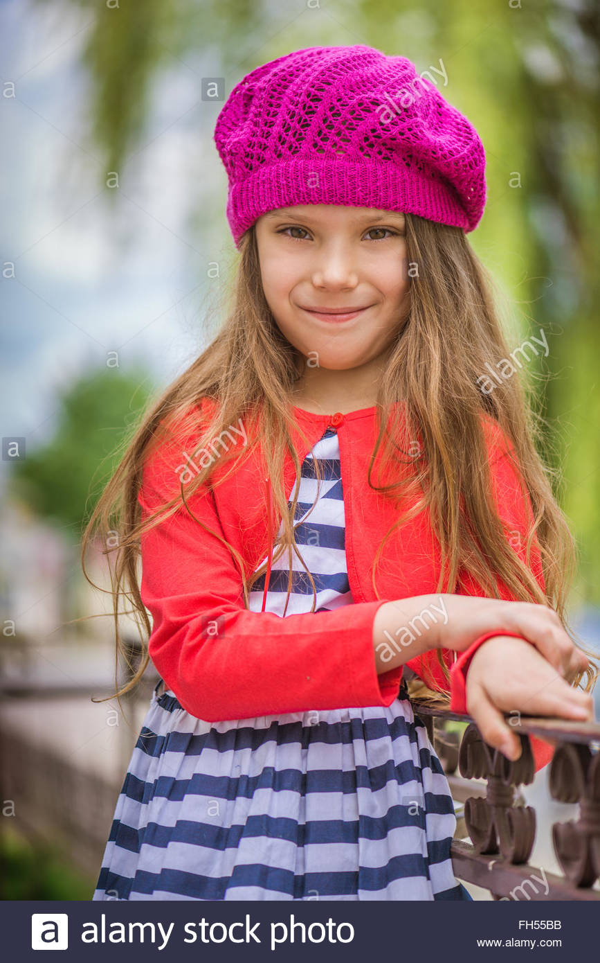 little girl in red beret Stock Photo  96614991 - Alamy b4097f1f53b