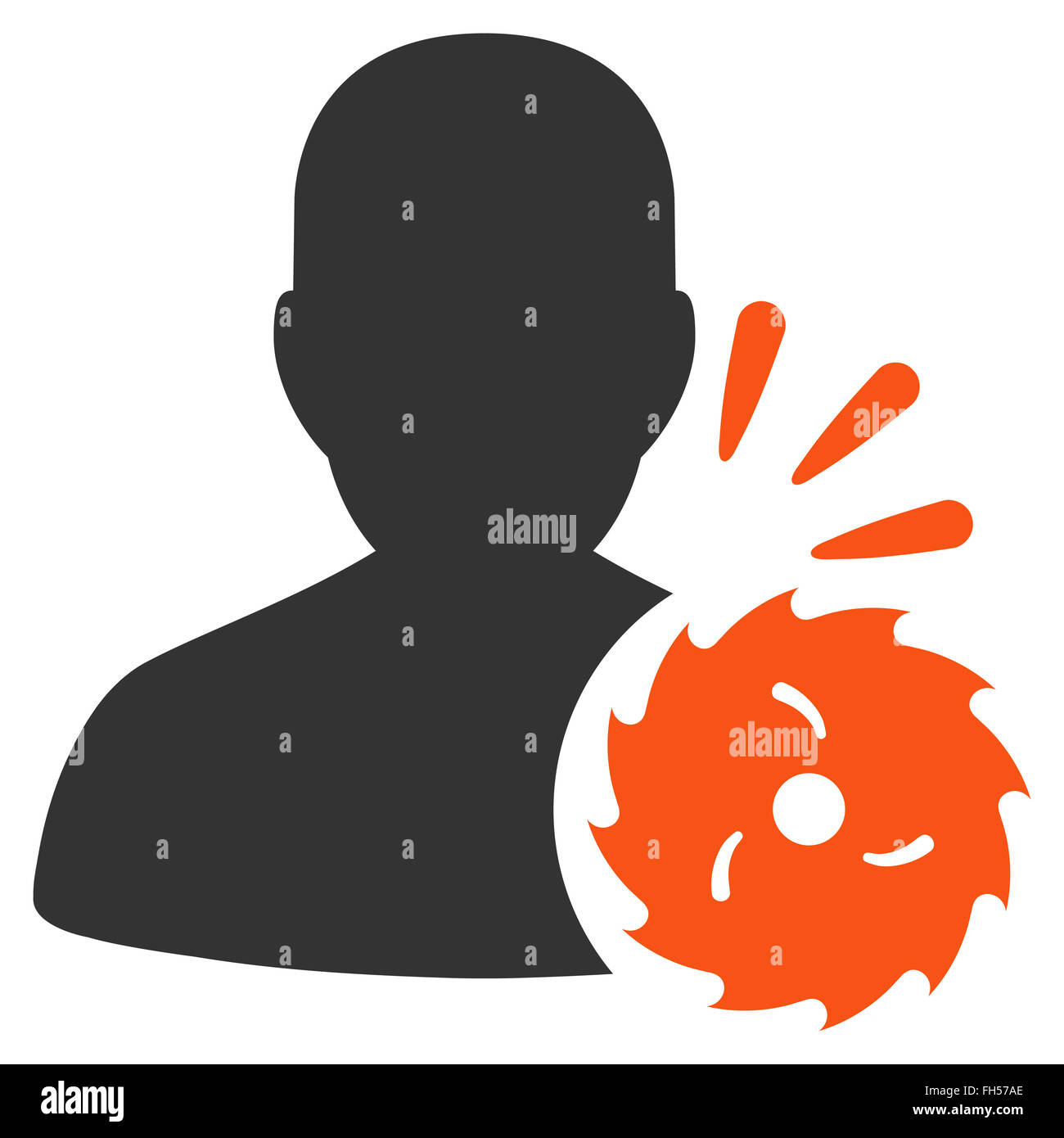 Body Execution Icon Stock Photo