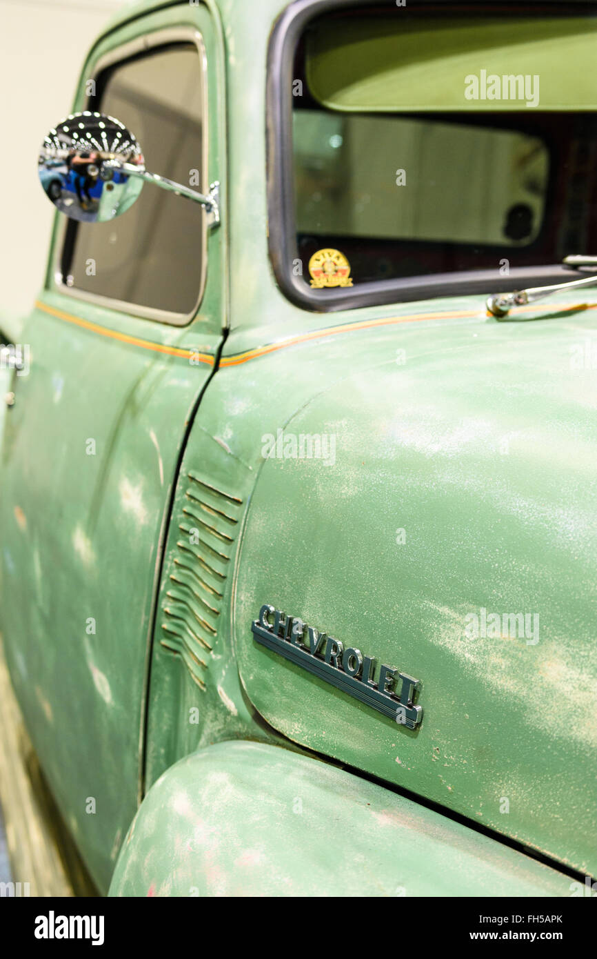Chevrolet truck on display at the 2016 London Classic Car Show Stock Photo