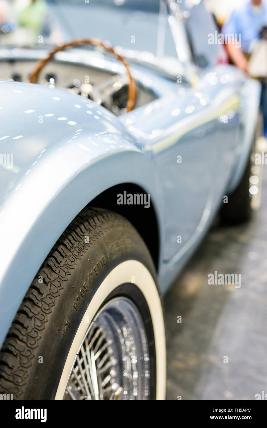 1964 AC Cobra on display at the 2016 London Classic Car Show Stock Photo