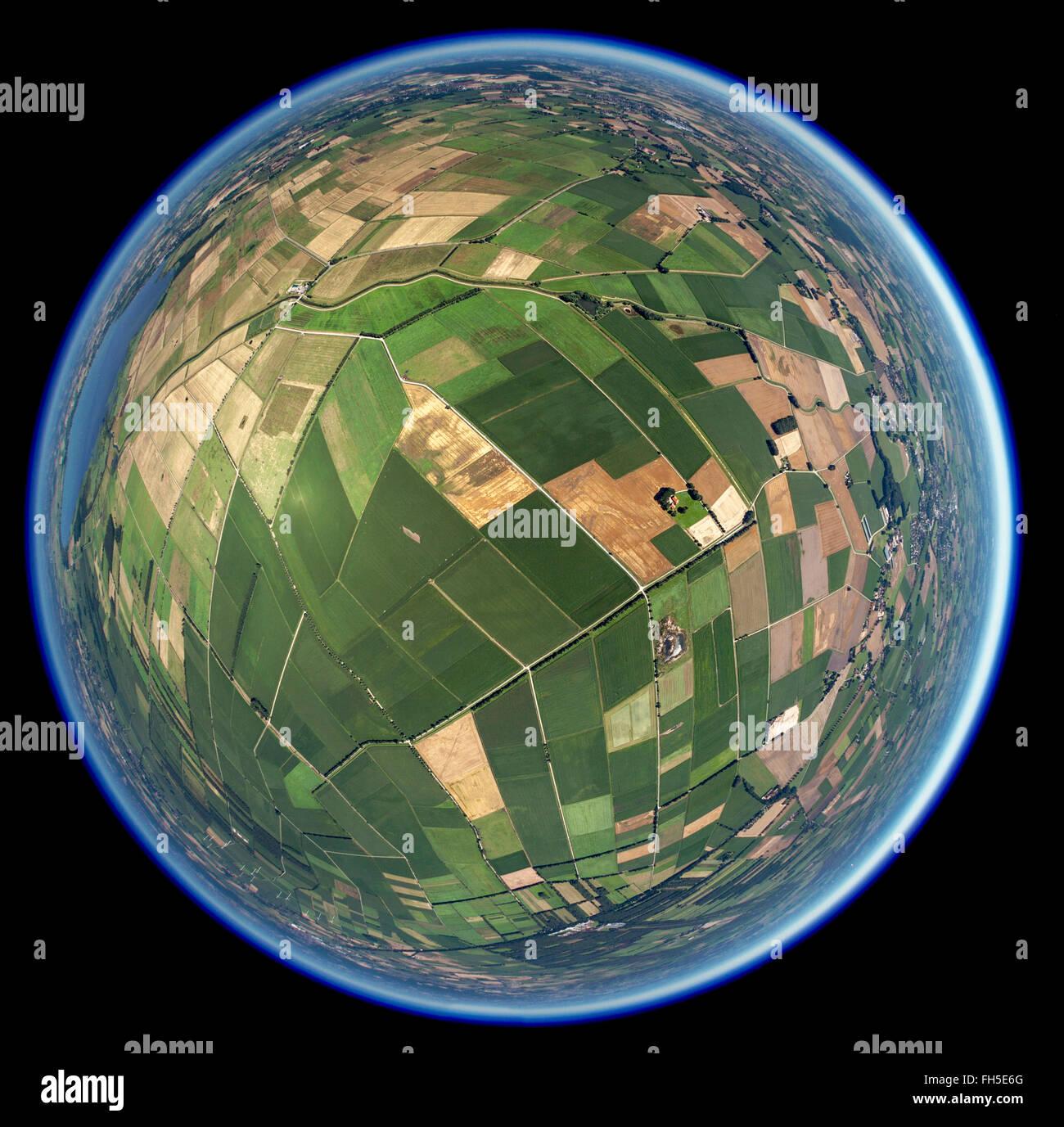 Luftbild, Felder, Parzellierung, kleine Felder, Erbteilung,  Bohmte, Niedersachsen, , Niedersachsen, Deutschland, - Stock Image