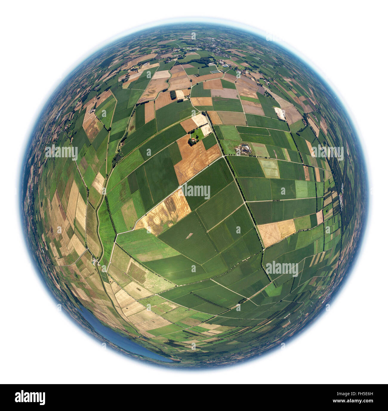 Luftbild, Felder, Parzellierung, kleine Felder, Erbteilung,  Bohmte, Niedersachsen, , Niedersachsen, Deutschland, Stock Photo