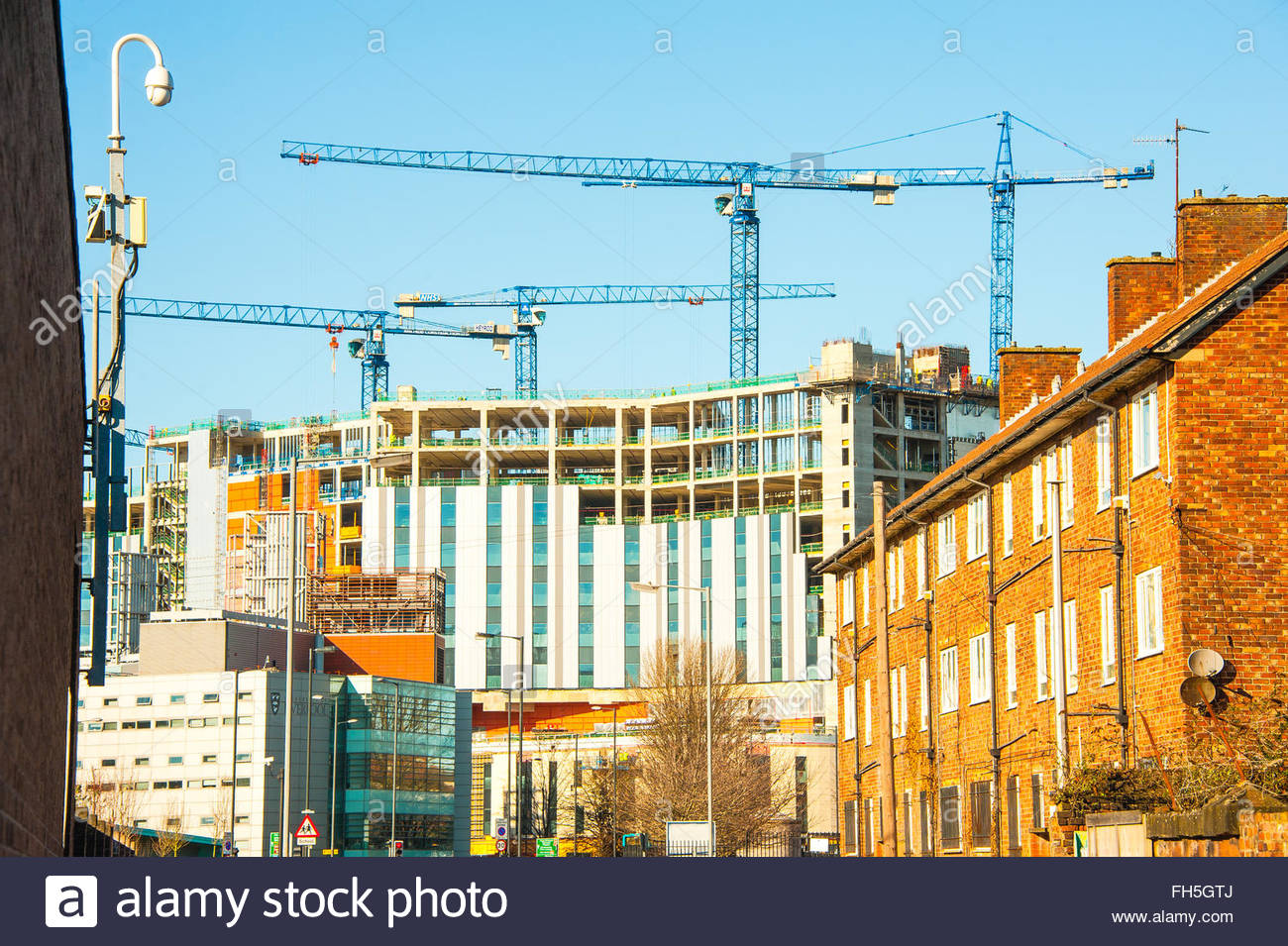 Carillion construction, the New Royal Liverpool. The construction of the New Royal Hospital. The construction by Stock Photo