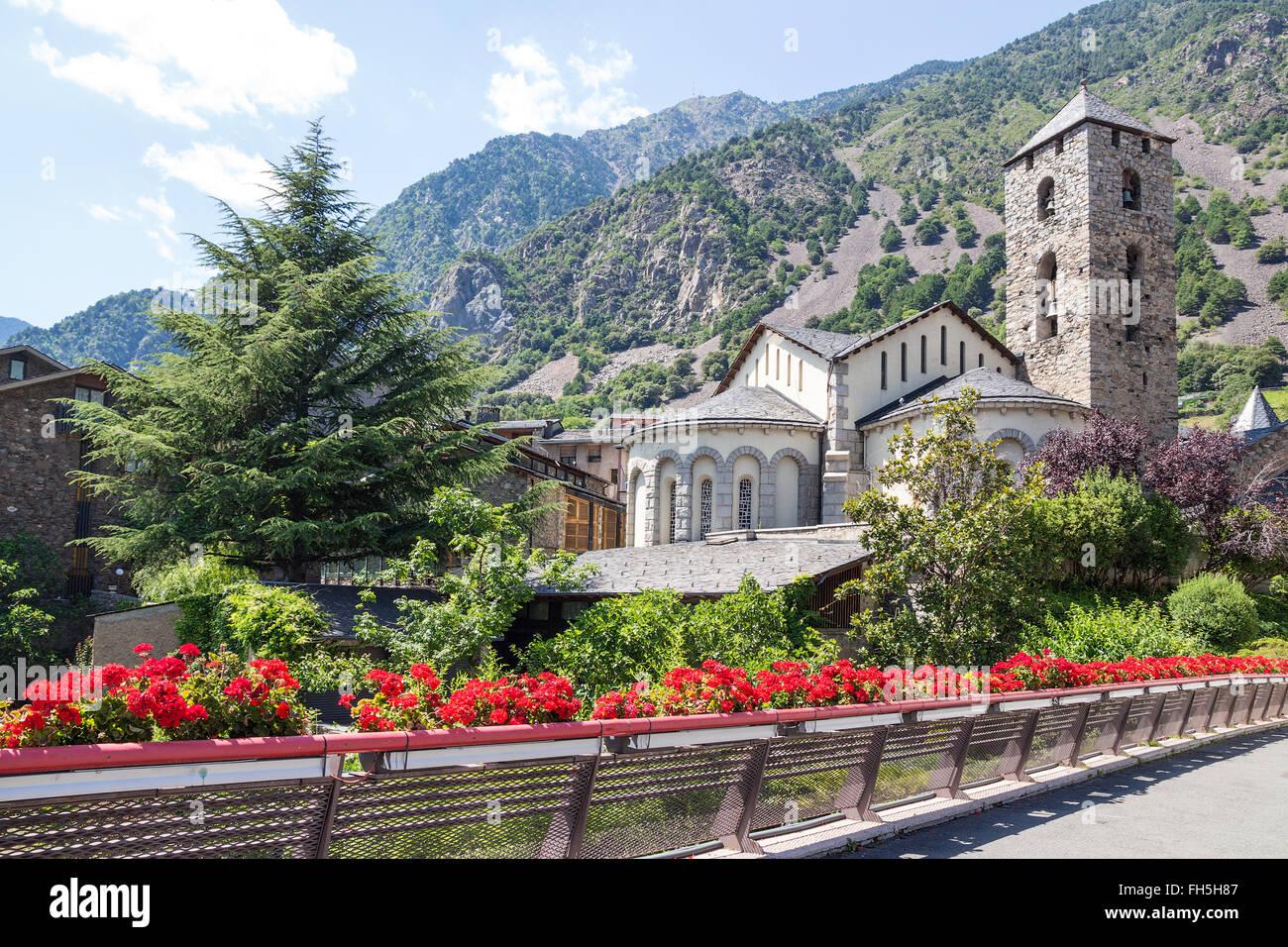 Beautiful view of Andorra La Vella, capital of Andorra. - Stock Image