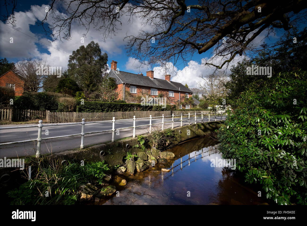 Brockenhurst village in the New Forest Hampshire - Stock Image