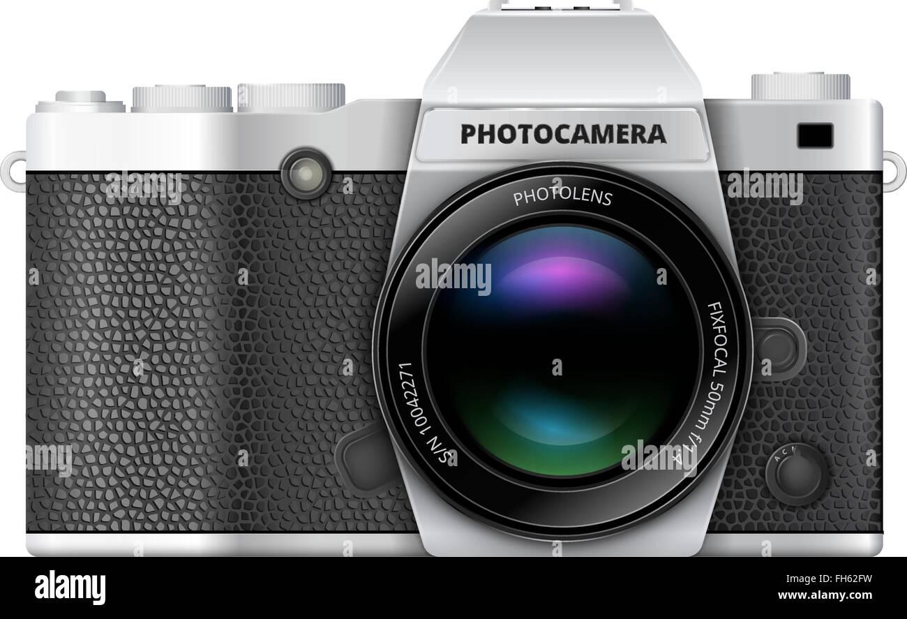SLR retro camera - Stock Vector