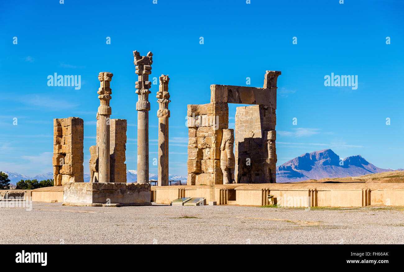 The Gate of All Nations in Persepolis, Iran Stock Photo