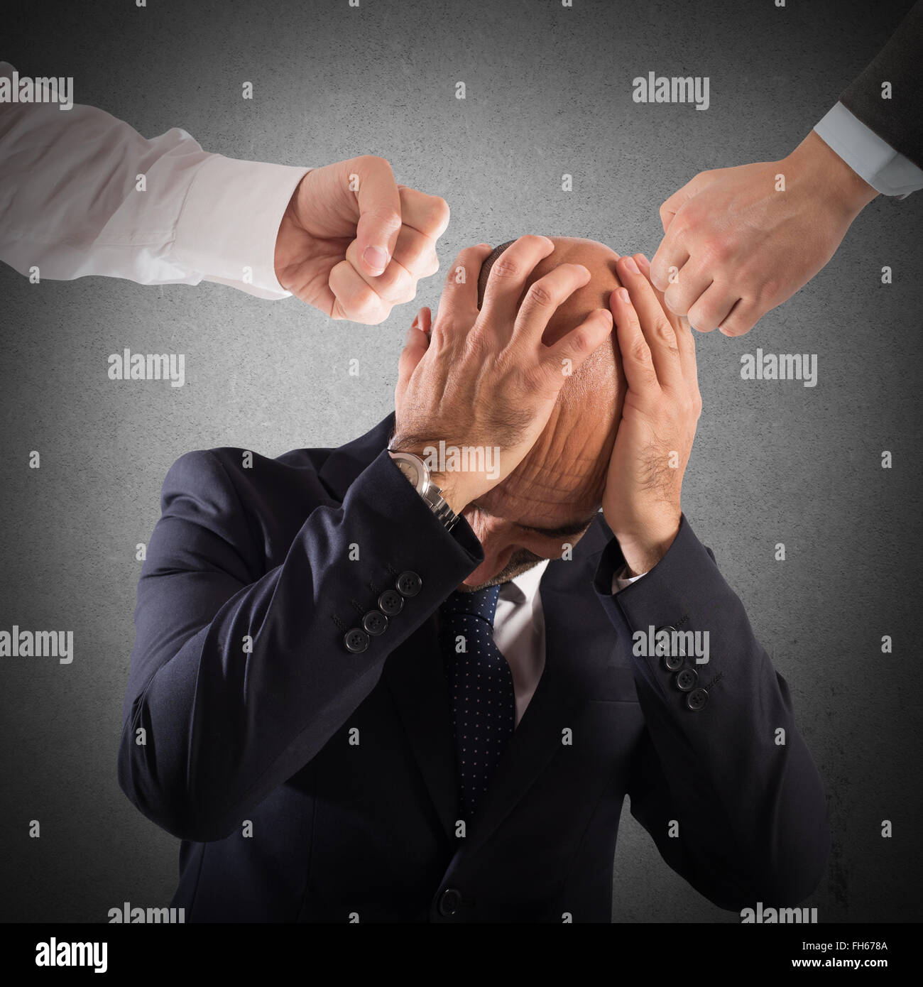 Injustice for an  employee - Stock Image
