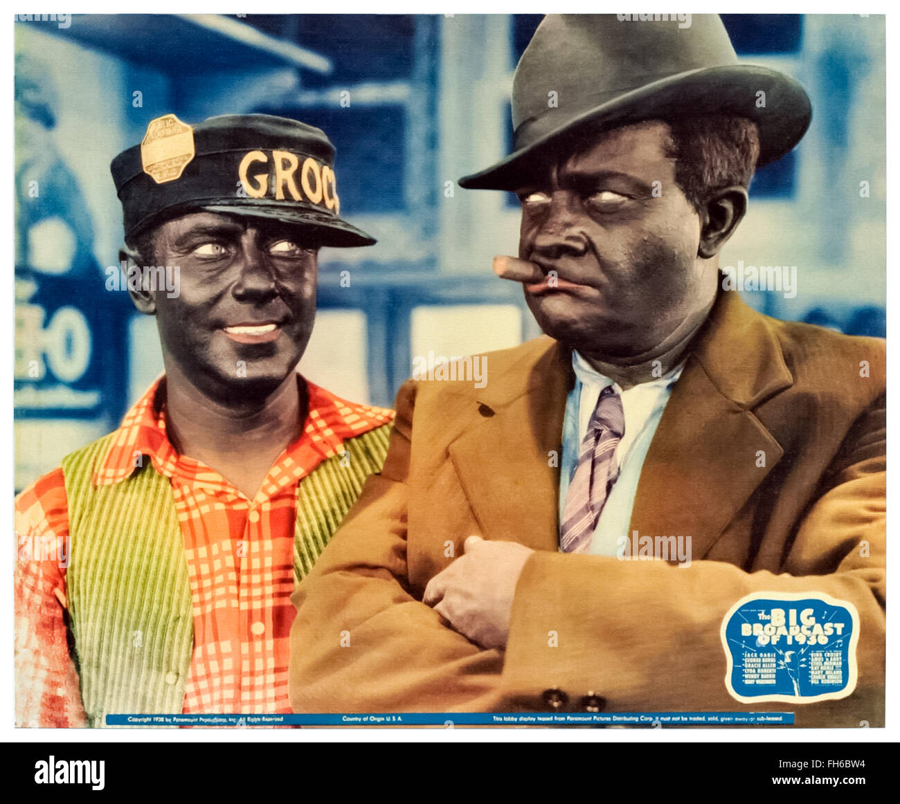 Amos 'n' Andy (Freeman Gosden and Charles Correll) in 'The Big Broadcast of 1936. - Stock Image