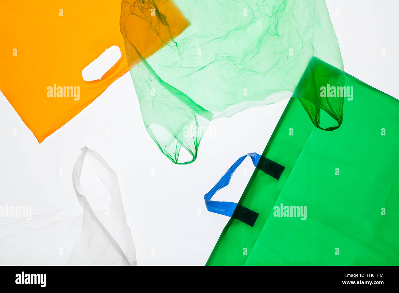 Different plastic bags - Stock Image