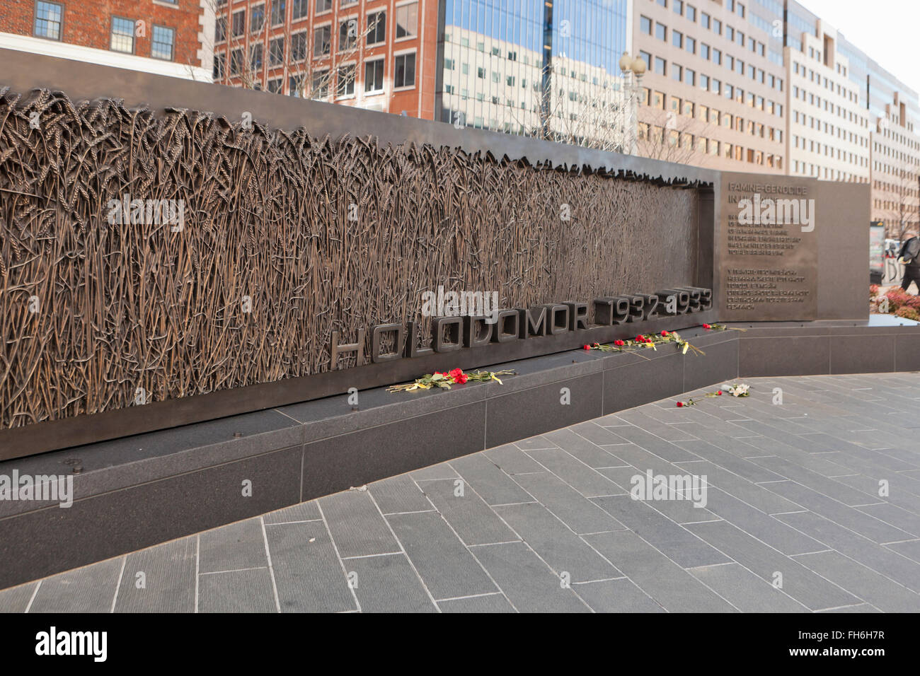 Holodomor Memorial to Victims of the Ukrainian Famine-Genocide of 1932–1933 - Washington, DC USA - Stock Image
