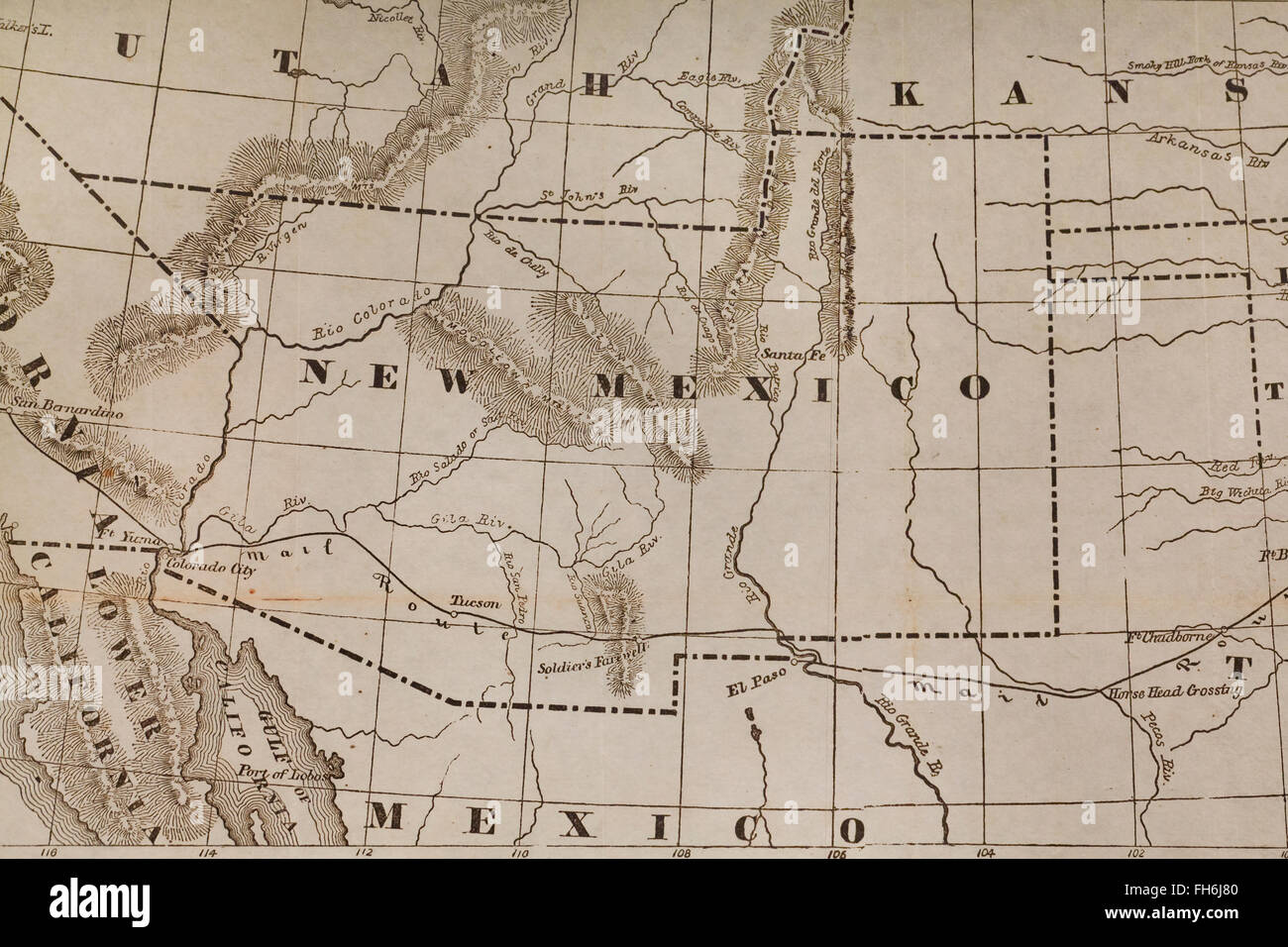 United States Map 1800s Stock Photos United States Map 1800s Stock - Us-map-1800s